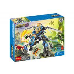Decool 10589 Jisi 10589 Xếp hình kiểu Lego HERO FACTORY SURGE & ROCKA Combat Machine Hero Factory Board And Loca's Super Fitting Machine Máy Chiến đấu Surge & Rocka 188 khối