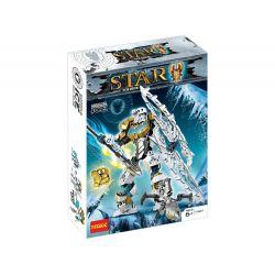 Decool 10667 Jisi 10667 XINH 6012 XSZ KSZ 708-2 Xếp hình kiểu Lego BIONICLE Kopaka - Master Of Ice Biochemical Warrior The Lord Of The Ice Mô Hình Thần Băng Kopaka 97 khối