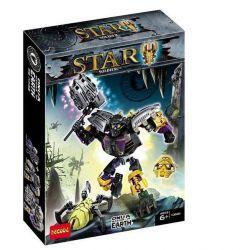 Decool 10668 Jisi 10668 XINH 6013 XSZ KSZ 708-1 Xếp hình kiểu Lego BIONICLE Onua - Master Of Earth Biochemical Warrior Land Of Land Thần đất Onua 108 khối