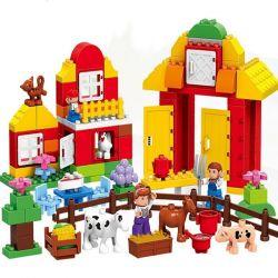 HUIMEI STAR CITY XING DOU CHENG HM068 Xếp hình kiểu Lego Duplo DUPLO Small Farm Nông trại nhỏ 120 khối
