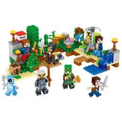 Lele 33028 (NOT Lego Minecraft 8 In 1 Minifigures ) Xếp hình 8 Nhân Vật 267 khối