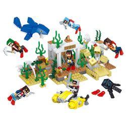LELE 33034 Xếp hình kiểu Lego MINECRAFT Submarine Sea World 6 In 1 Thế giới ngầm dưới biển 6 trong 1 397 khối