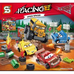 Bela 10687 Lari 10687 Decool 2905 Jisi 2905 SHENG YUAN SY SY778A 778A SY778E 778E SY778F 778F SY939 Xếp hình kiểu Lego JUNIORS Thunder Hollow Crazy 8 Race Racing Mobilization 3 Crazy 8 Words Racing Bó
