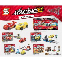 Sheng Yuan 936 SY936 Bela 10681 10682 10683 10684 (NOT Lego Cars 10730 10731 10732 10733 Lightning Mcqueen Speed Launcher Cruz Ramirez Race Simulator Guido And Luigi's Pit Stop Mater's Junkyard ) Xếp
