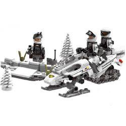 XINGBAO XB-06009 06009 XB06009 Xếp hình kiểu Lego ACROSS THE BATTLEFIELD Across The Battlefield Extreme Snowmobiling Speed Snow Motorcycle Xe Trượt Tuyết Vũ Trang 290 khối