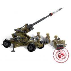 XINGBAO XB-06011 06011 XB06011 Xếp hình kiểu Lego ACROSS THE BATTLEFIELD Across The Battlefield Scorpion Cindy Cannon Scorpio Cindi Foil Pháo Phòng Không 350 khối