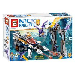 SHENG YUAN SY 862 SY862 Xếp hình kiểu Lego NEXO KNIGHTS Future Knights Xe Tích điện Biến Hình Mũi Giáo 兰斯的变形冲锋长枪战车 gồm 2 hộp nhỏ 310 khối