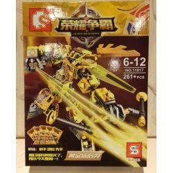 Sembo 11817 (NOT Lego King of Glory Hegemony Gold Edition Hou Yi ) Xếp hình Hậu Nghệ Phiên Bản Vàng 261 khối