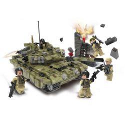 Xingbao XB-06015 (NOT Lego Across The Battlefield Across The Battlefield:scorpio Tiger Tank ) Xếp hình Bộ Xe Tăng Tiger Scorpio 1386 khối
