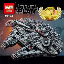 BLANK 60006 611088 XQ003 DINGGAO DG005 KING 81085 LEPIN 05132 Xếp hình kiểu Lego STAR WARS Millennium Falcon Luxury Millennium Phi Thuyền Chim ưng 7541 khối