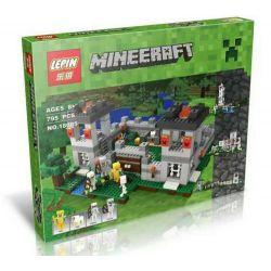 Bela 10472 Lari 10472 LEPIN 18005 Xếp hình kiểu Lego MINECRAFT The Fortress My World Toe Fortress Pháo đài 984 khối