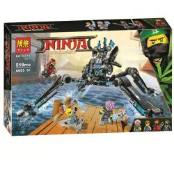 Bela 10717 Lari 10717 LELE 31068 LEPIN 06054 TENMA TM6414 6414 Xếp hình kiểu THE LEGO NINJAGO MOVIE Water Strider Water Torch's Water Fighter Nhện Nước Khổng Lồ Của Nya 494 khối