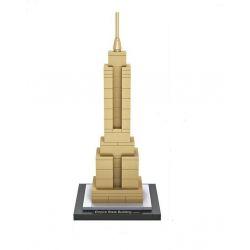 Loz 1002 Mini block Architecture Empire State Xếp hình Tòa Nhà Empire State 77 khối