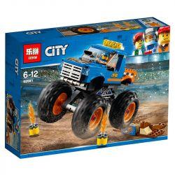 Lepin 02091 Bela 10869 (NOT Lego City 60180 Great Vehicles Monster Truck ) Xếp hình Xe Tải Quái Vật Khổng Lồ 215 khối