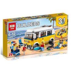 Lepin 24044 Sheng Yuan 1061 Bela 11047 (NOT Lego Creator 31079 Sunshine Surfer Van ) Xếp hình Người Lướt Sóng Tiên Phong 424 khối