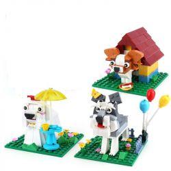 XINGBAO XB-18002 18002 XB18002 Xếp hình kiểu Lego Cute Brick Puppy IDEABOX Oak Thành Phố Cún Con Bằng Gạch Vui Nhộn lắp được 3 mẫu 402 khối