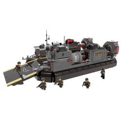 Xingbao XB-06019 (NOT Lego Across The Battlefield Across The Battlefield:amphibious Transport Ship ) Xếp hình Tàu Đệm Khí Đổ Bộ 3006 khối