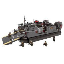 XINGBAO XB-06019 06019 XB06019 Xếp hình kiểu Lego ACROSS THE BATTLEFIELD Across The Battlefield Amphibious Transport Ship Armored Shipping Air Cushion Boat Tàu đệm Khí đổ Bộ 3006 khối