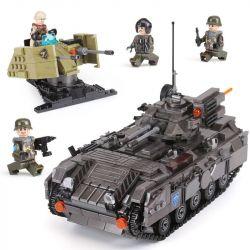 XINGBAO XB-06018 06018 XB06018 Xếp hình kiểu Lego ACROSS THE BATTLEFIELD Across The Battlefield Armoured Cehicle Track Armored Chariot Bộ Xe Bọc Thép 1049 khối