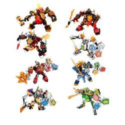 Sheng Yuan 762 SY762 (NOT Lego Nexo Knights Mech Robot ) Xếp hình Ro-Bot Cơ Khí gồm 8 hộp nhỏ 960 khối