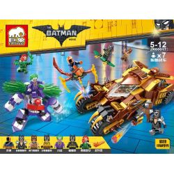 ELEPHANT JX60017 60017 Xếp hình kiểu Lego THE LEGO BATMAN MOVIE Catman Catmobile Vs Joker Mech Chiến xa của người mèo đối đầu người máy gã Hề độc ác