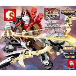 SEMBO 11887 Xếp hình kiểu Lego KING OF GLORY HEGEMONY 荣耀争霸 King's Glory Viking Plunder Genghis Khan Thành Cát Tư Hãn 393 khối