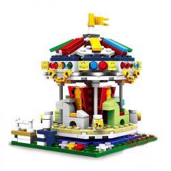 XINGBAO XB-01107 01107 XB01107 Xếp hình kiểu Lego COLORFUL WORLD Colorful World Merry Go Round Variety Rotating Trojan Ngựa Gỗ Xoay Vòng 343 khối