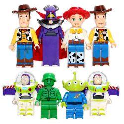 SHENG YUAN SY 661 SY661 Xếp hình kiểu Lego TOY STORY 8 Minifigures Toy Story 8 Câu Chuyện đồ Chơi Nhỏ gồm 2 hộp nhỏ 237 khối