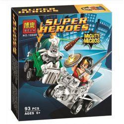 Bela 10669 Lari 10669 Xếp hình kiểu Lego DC COMICS SUPER HEROES Mighty Micros Wonder Woman Vs. Doomsday Mini Battle Magic Women's Women's Day Cuộc Chiến Của Wonder Woman Và ác Nhân Doomsday 85 khối