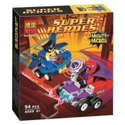 Bela 10672 Lari 10672 SHENG YUAN SY 1016D Xếp hình kiểu Lego MARVEL SUPER HEROES Mighty Micros Wolverine Vs. Magneto Mini Battle Diamond Wolf Cuộc Săn đuổi Của Người Sói 85 khối