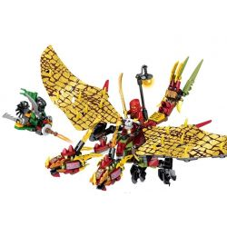SEMBO S8207 8207 Xếp hình kiểu Lego THE LEGO NINJAGO MOVIE Fire Dragon Of Kai Rồng Lửa Huyền Thoại Của Kai 330 khối