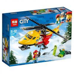 Lepin 02090 Bela 10868 (NOT Lego City 60179 Ambulance Helicopter ) Xếp hình Trực Thăng Cấp Cứu 212 khối