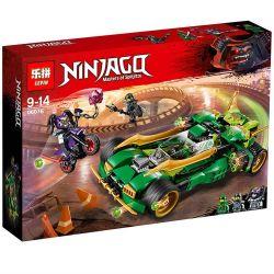 Lepin 06076 Lele 31119 31166 Sheng Yuan 1002 Bela 10803 Zimo ZM4013 (NOT Lego Ninjago Movie 70641 Ninja Nightcrawler ) Xếp hình Xe Đua Bóng Đêm Của Ninja 618 khối