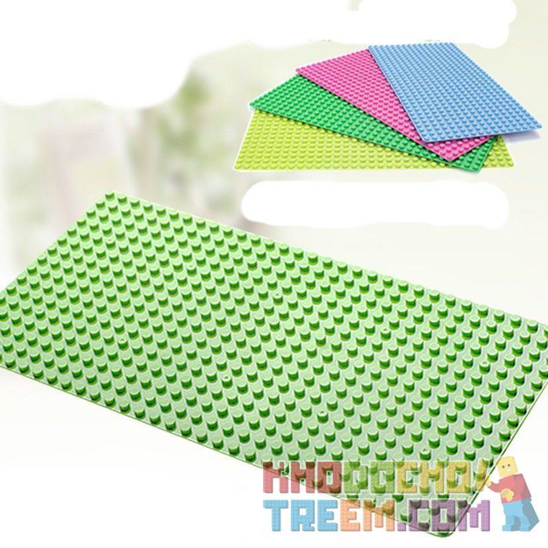Huimei HM170 (NOT Lego Duplo Baseplate 32 X 16 ) Xếp hình Tấm Đế Đủ Màu Cỡ 32 Chân X 16 Chân