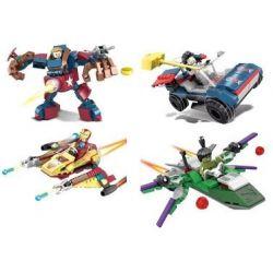 Sheng Yuan 994 SY994 (NOT Lego Marvel Super Heroes 4 Minifigures Iron Man Hulk Thor Captain America ) Xếp hình 4 Nhân Vật Người Sắt Người Khổng Lồ Xanh Thần Sấm Đội Trưởng Mỹ gồm 4 hộp nhỏ 1088 khối