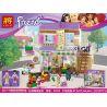 Bela 10495 Lele 37014 (NOT Lego Friends 41108 Heartlake Food Market ) Xếp hình Chợ Thực Phẩm 389 khối