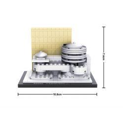 Loz 1005 Mini Blocks Architecture Guggenheim Museum Xếp hình Bảo Tàng Guggenheim 219 khối