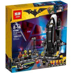 LEPIN 07098 Xếp hình kiểu THE LEGO BATMAN MOVIE The Bat-Space Shuttle Le Gao Batman Movie Batman Space Aircraft Con Tàu Không Gian Bat 643 khối