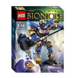 XSZ KSZ 611-2 Xếp hình kiểu Lego BIONICLE Onua - Uniter Of Earth Biochemical Warrior Land Gathering Hero - Ou Chiến Binh Onua - Toa Nuva Của Trái Đất. 143 khối