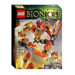 XSZ KSZ 611-1 (NOT Lego Bionicle 71308 Tahu Uniter Of Fire ) Xếp hình Chiến Binh Tahu Người Hội Tụ Lửa 132 khối