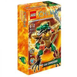 XSZ KSZ 815-2 (NOT Lego Legends of Chima 70207 Chi Cragger ) Xếp hình Chiến Binh Lửa Cragger 64 khối