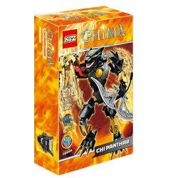 XSZ KSZ 815-3 Xếp hình kiểu Lego LEGENDS OF CHIMA CHI Panthar Qigong Legend Qigong Black Leopard Chiến Binh Lửa Panthar 59 khối