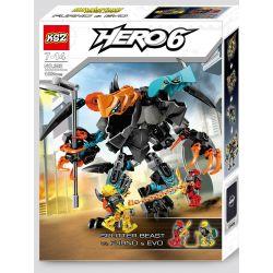 XSZ KSZ 308 Decool 10466 (NOT Lego Hero Factory 44021 Splitter Beast Vs. Furno & Evo ) Xếp hình Đại Chiến Thú Hai Đầu Khổng Lồ Splitter Beast Với Robot Mini Evo Và Furno 108 khối