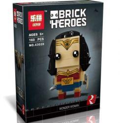 Lepin 43028 Decool 6838 (NOT Lego BrickHeadz 41599 Wonder Woman ) Xếp hình Nữ Anh Hùng 160 khối