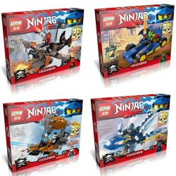 Lepin 13001 (NOT Lego Ninjago Movie 4 Members Of Ninja: Lloyd, Kai, Jay And Zane ) Xếp hình Các Thành Viên Biệt Đội Ninja: Lloyd, Kai, Jay Và Zane 663 khối