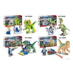 LELE 79086 Xếp hình kiểu Lego JURASSIC WORLD Jusrassic Park Dinosaurs 4 In 1 Công Viên Khủng Long 4 trong 1 86 khối