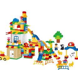 HYSTOYS HONGYUANSHENG AOLEDUOTOYS  GM-5014A 5014A GM5014A Xếp hình kiểu Lego Duplo DUPLO Learning Paradise Xếp hình tổng hợp hộp nhựa 221 khối