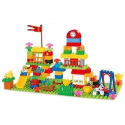 HYSTOYS HONGYUANSHENG AOLEDUOTOYS  HG-1356 1356 HG1356 Xếp hình kiểu Lego Duplo DUPLO Playground Khu vui chơi 100 khối