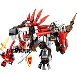 LEPIN 40012 SEMBO 11830 Xếp hình kiểu Lego KING OF GLORY HEGEMONY Genghis Khan Wolf Ride Quái Thú Sư Tử 532 khối