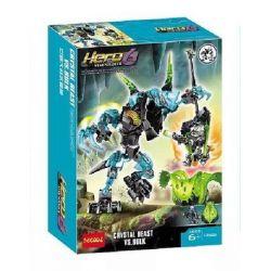 Decool 10506 Jisi 10506 Xếp hình kiểu Lego HERO FACTORY CRYSTAL Beast Vs. BULK Hero Factory Giant Battle Crystal Beast Cuộc Chiến Của Quái Thú Pha Lê Và Bulk 83 khối